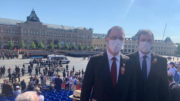 Jorge Arreaza, canciller venezolano en el Desfile de la Victoria en Moscú, Rusia - Sputnik Mundo