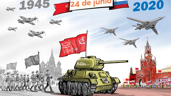Miles de militares y cientos de armas: Rusia celebra el Desfile de la Victoria - Sputnik Mundo