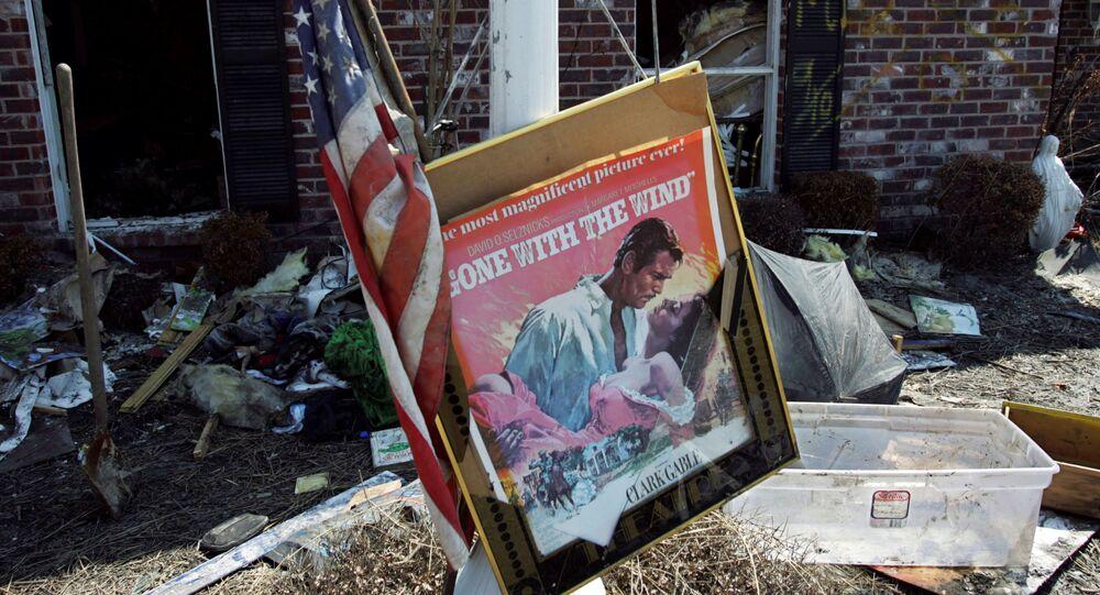 Un póster de la película 'Lo que el viento se llevó'