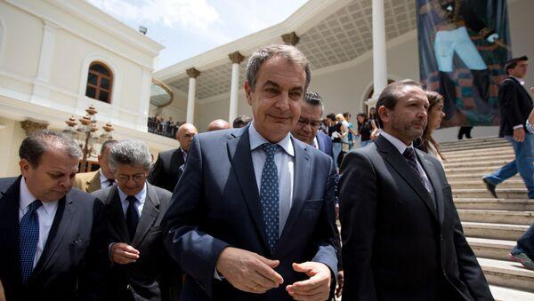 José Luis Rodríguez Zapatero en la Asamblea Nacional de Venezuela - Sputnik Mundo