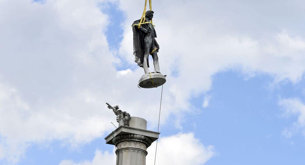 Estatua del expresidente de EEUU John C. Calhoun en Charleston