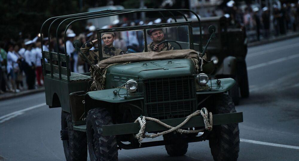 Un desfile militar en Crimea