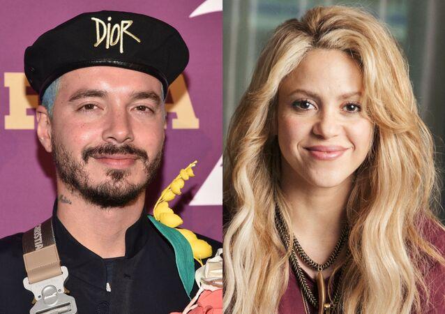 J Balvin, reguetonero colombiano // Shakira, cantante colombiana