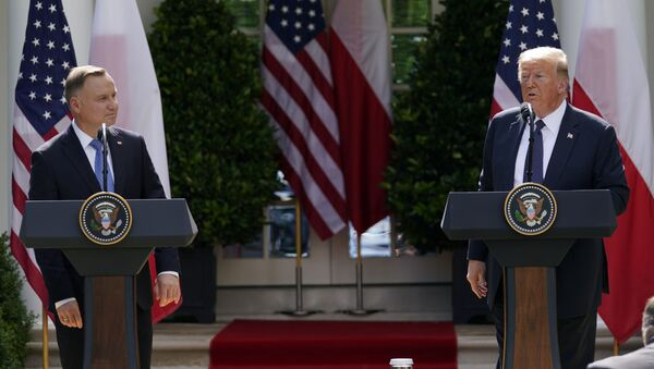 Visita de Andrzej Duda, presidente de Polonia, a la Casa Blanca - Sputnik Mundo