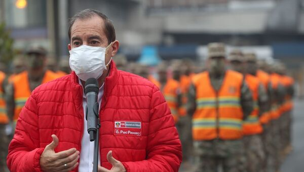 Walter Martos, ministro de Defensa de Perú - Sputnik Mundo