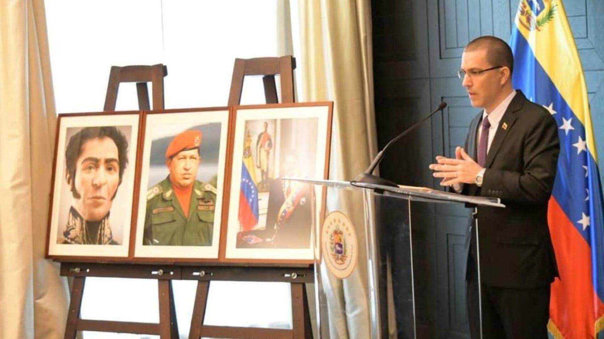 Jorge Arreaza, canciller venezolano, en una rueda de prensa en Moscú - Sputnik Mundo, 1920, 21.07.2021