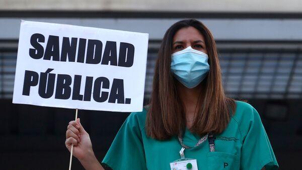 Sanitarios españoles demandan mejores condiciones laborales - Sputnik Mundo