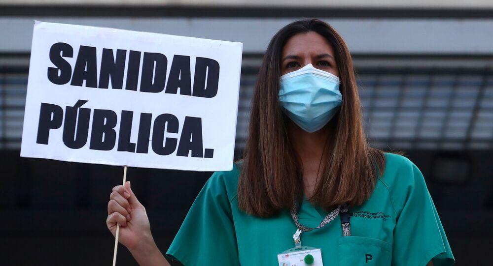 Sanitarios españoles demandan mejores condiciones laborales