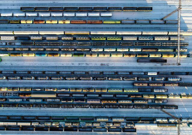 Trenes de carga en Rusia