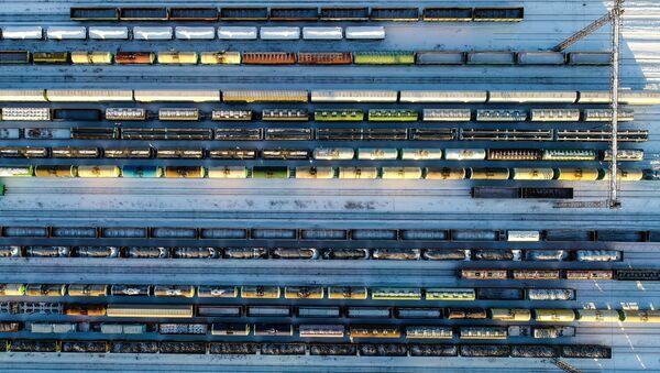 Trenes de carga en Rusia - Sputnik Mundo