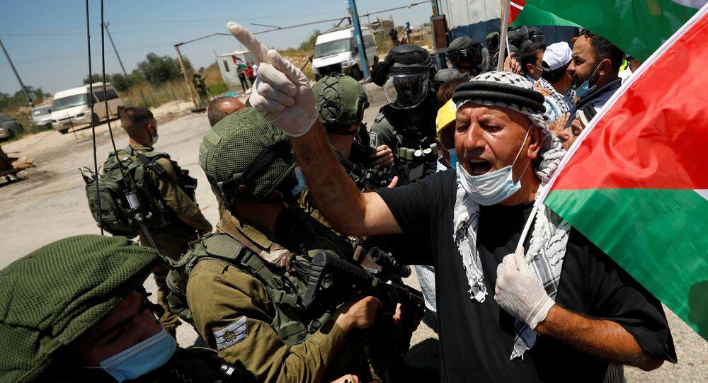Protestas contra la anexión de Cisjordania