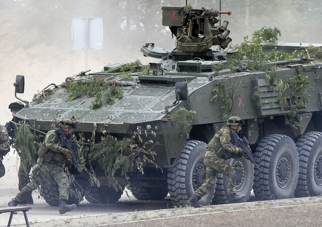 Los ejercicios de la OTAN en los países bálticos que tienen frontera con Rusia (archivo)