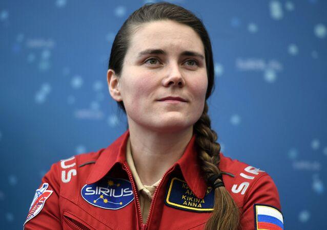 Anna Kikina durante el experimento de aislamiento internacional SIRIUS-17