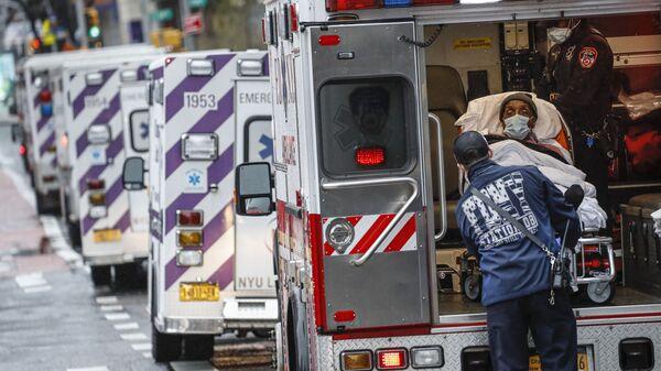 Coches de ambulancia en EEUU - Sputnik Mundo