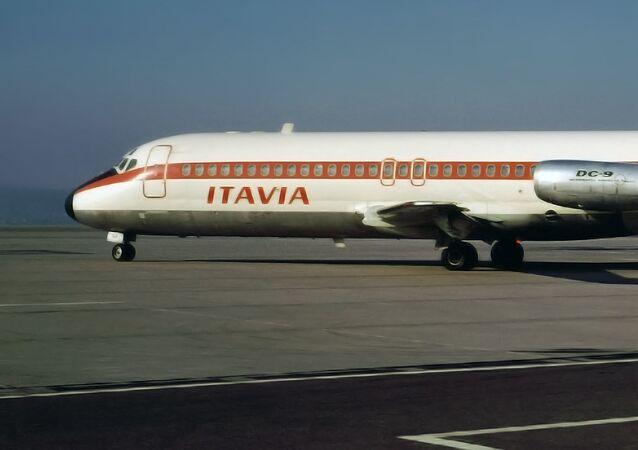 El avión DC-9 de la aerolínea Itavia
