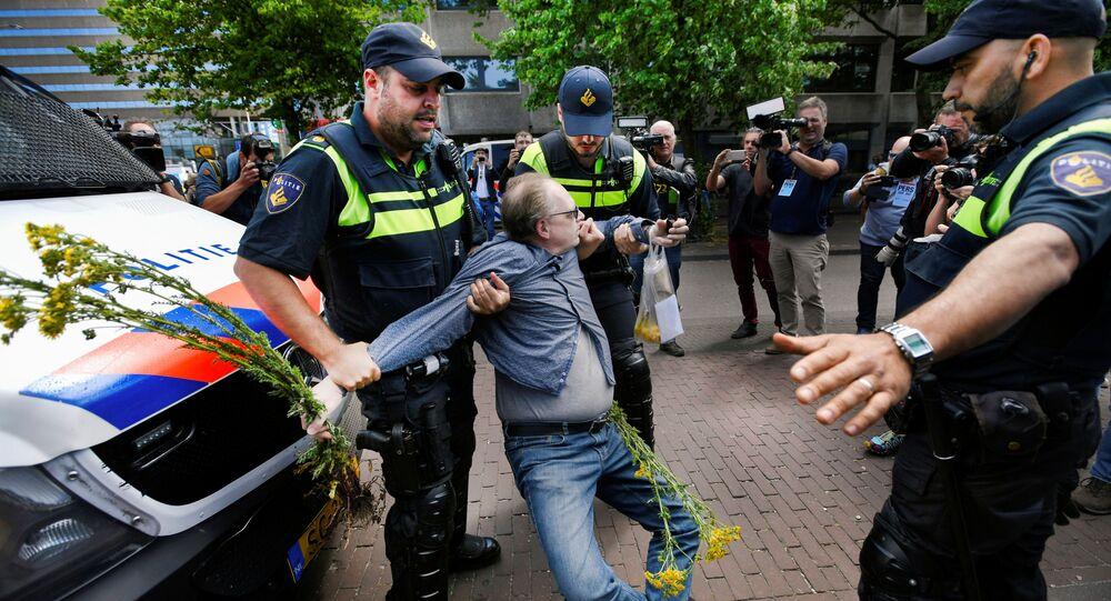 Protestas en La Haya