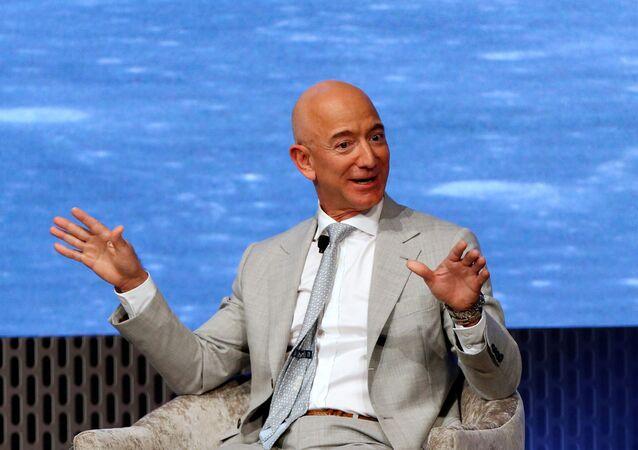 Jeff Bezos, jefe de la compañía estadounidense Amazon