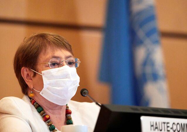 Michelle Bachelet, la Alta Comisionada de la ONU para los DDHH
