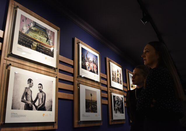 Una exposición de los ganadores del premio del concurso Stenin