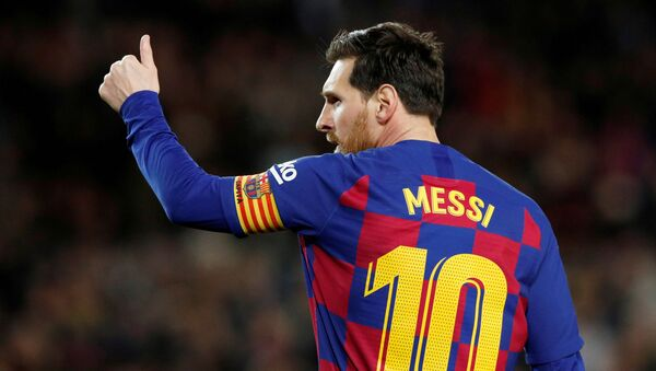 Lionel Messi, jugador de fútbol argentino - Sputnik Mundo