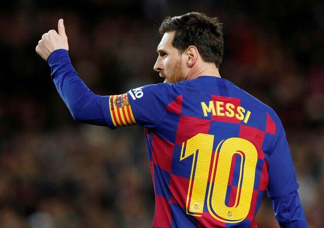 Lionel Messi, jugador de fútbol argentino