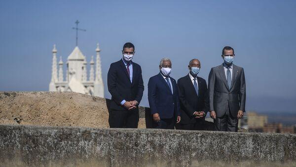 Pedro Sánchez, Antonio Costa, Marcelo Rebelo de Sousa y Felipe VI en la Alcazaba de Badajoz - Sputnik Mundo