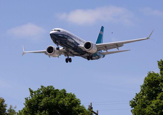 Una prueba de vuelo previa a la certificación del Boeing 737 MAX