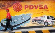 Una muralla con el logo de PDVSA