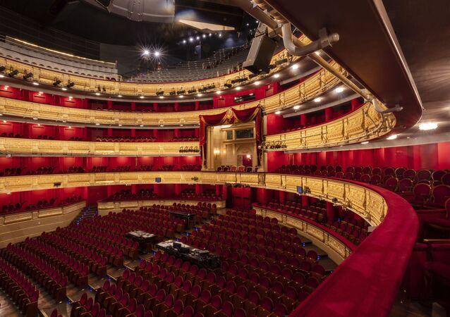 Vista del Teatro Real de Madrid, sin público, el pasado 12 de marzo