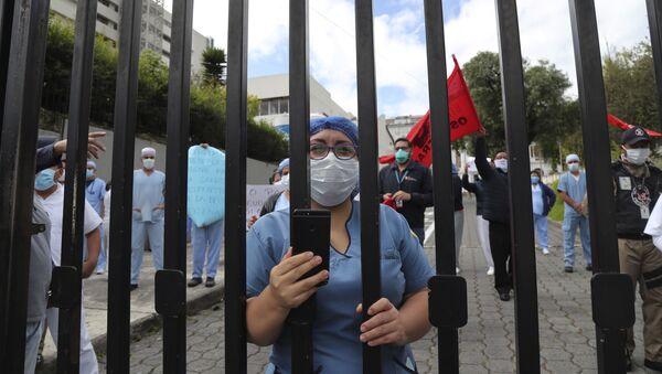 Trabajadores sanitarios en Ecuador - Sputnik Mundo