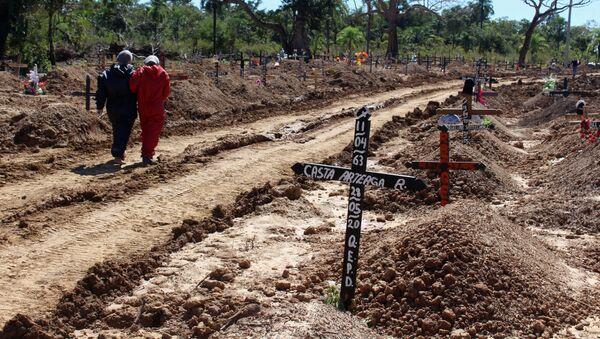 Cementerio de víctimas de COVID-19 en Trinidad, Bolivia - Sputnik Mundo