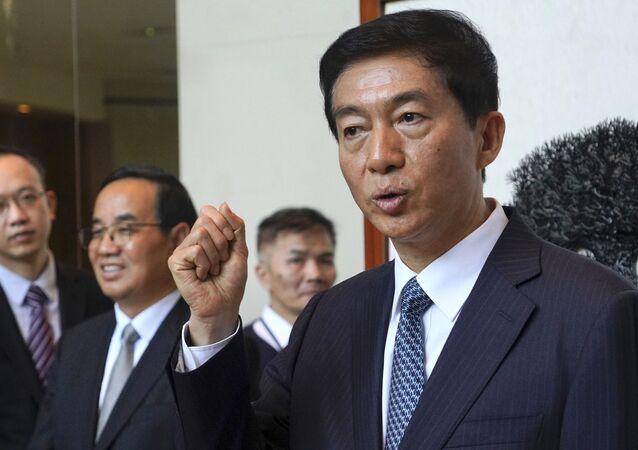 Luo Huining, asesor para seguridad nacional del Comité de Seguridad Nacional en Hong Kong