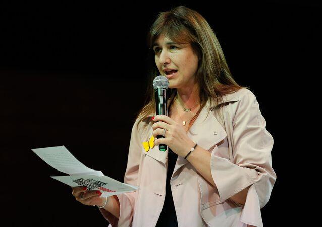 Laura Borràs, la diputada y líder de la formación Junts per Cataluña (JxCat)