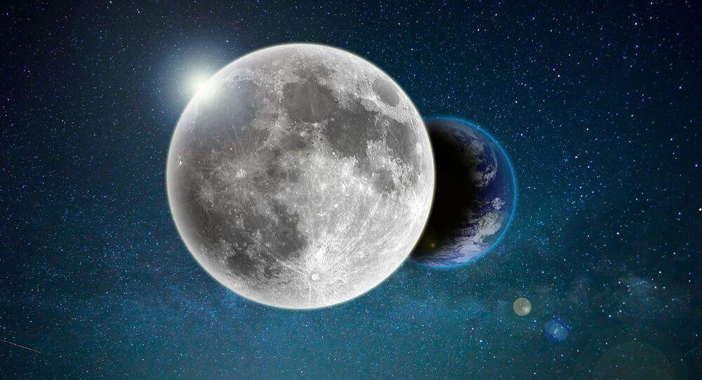 La Luna y la Tierra (ilustración)
