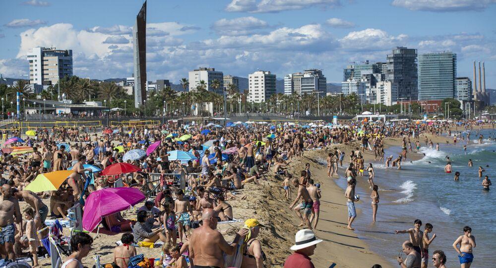Una playa en España