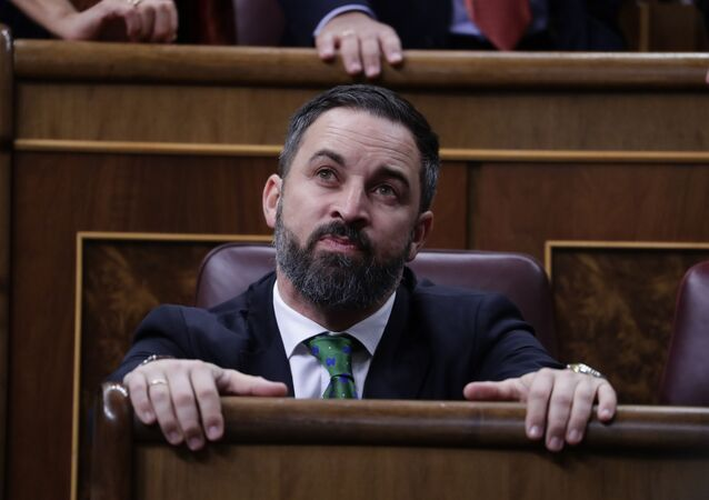 Santiago Abascal, líder de Vox en el Congreso de los Diputados. 5 de Junio de 2020