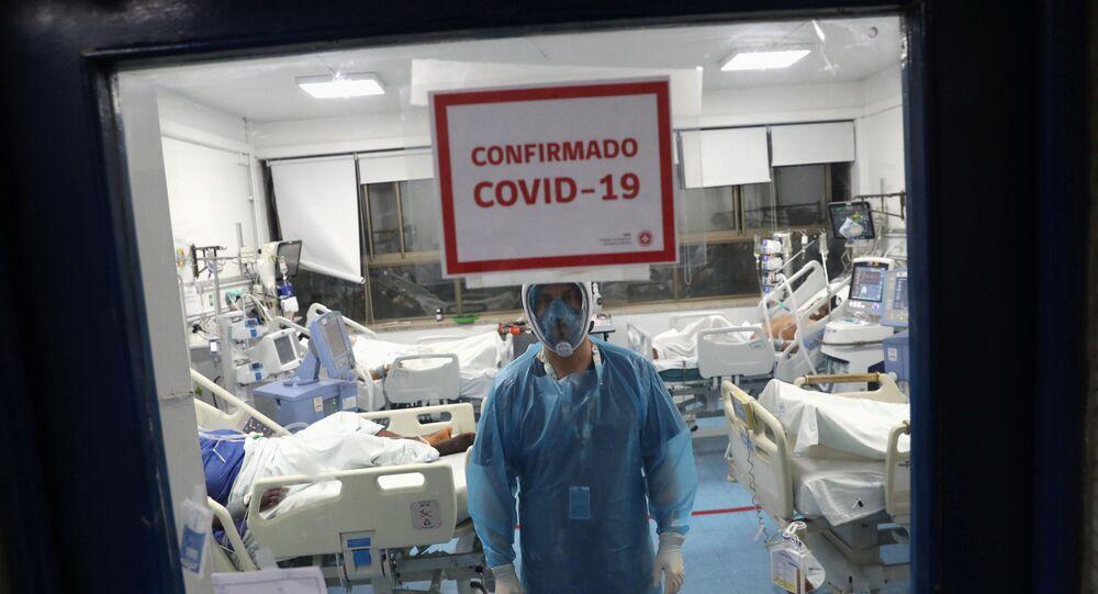 Un hospital con enfermos de COVID-19 en Santiago, Chile