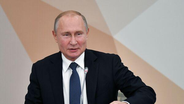 Vladímir Putin en Nizhni Nóvgorod (octubre de 2019) - Sputnik Mundo