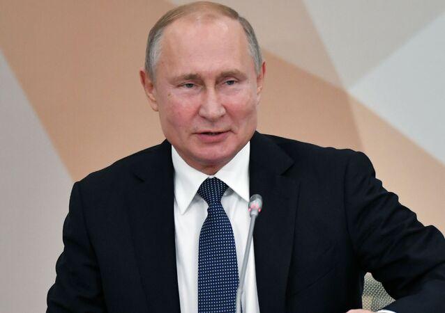 Vladímir Putin en Nizhni Nóvgorod (octubre de 2019)
