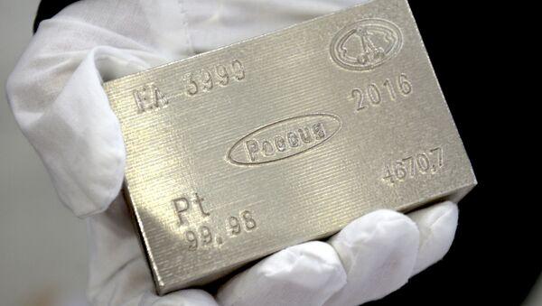 Un lingote de platino - Sputnik Mundo