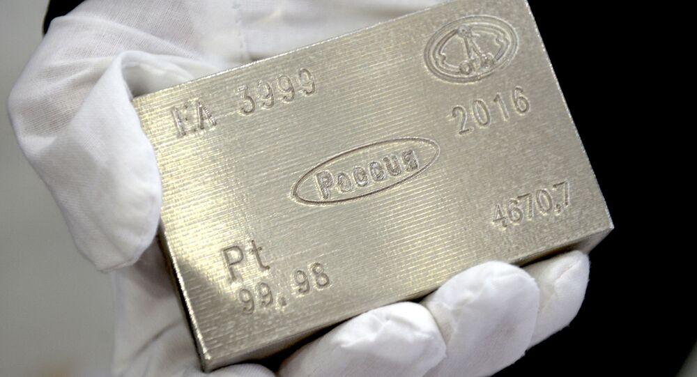 Un lingote de platino