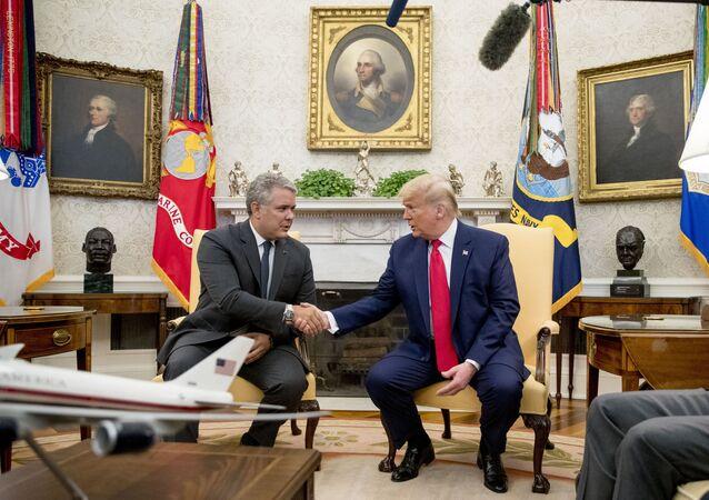Donald Trump e Iván Duque reunidos en la Casa Blanca. Washington, 2 de marzo de 2020