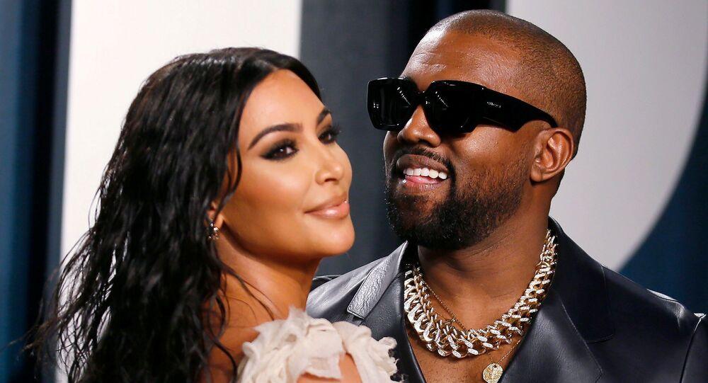El rapero Kanye West y su esposa, Kim Kardashian