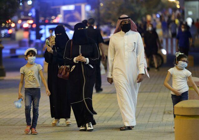 Una familia saudí en Riad