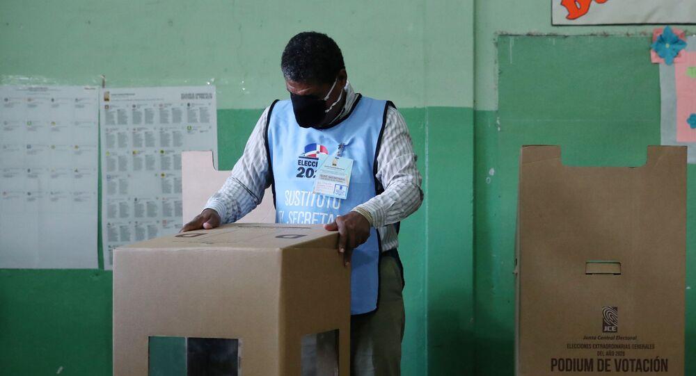 Un colegio electoral en Santiago