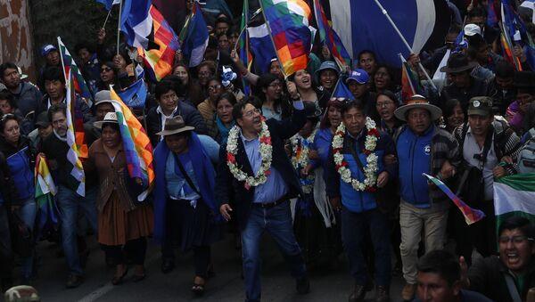 Luis Arce, candidato presidencial del Movimiento Al Socialismo de Bolivia - Sputnik Mundo