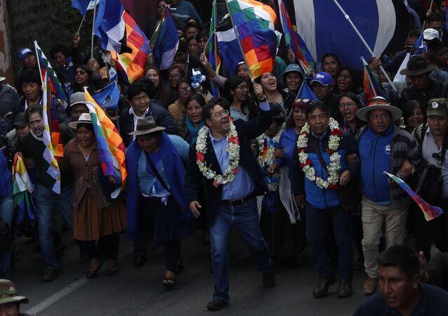 Luis Arce, candidato presidencial del Movimiento Al Socialismo de Bolivia