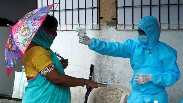 Coronavirus en la India (imagen referencial) - Sputnik Mundo