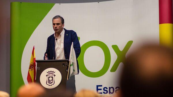 Javier Ortega Smith, secretario general de Vox, durante un mitin en Huelva - Sputnik Mundo