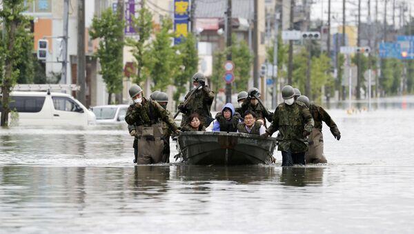 Inundaciones en Japón - Sputnik Mundo